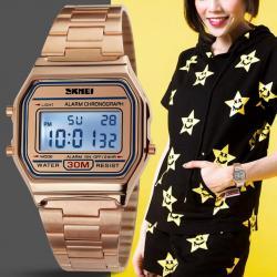 Skmei Rose Gold Bayan Kol Saati Lüks Şık Tasarım Orjinal Saat SKM998KE