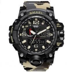 Smael Erkek Kol Saati Gri Spor Tasarım Su Geçirmez Saat SM1640