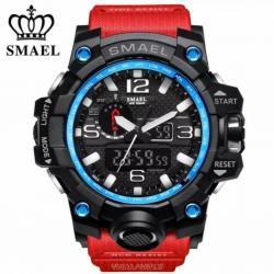 Smael Erkek Kol Saati Kırmızı Spor Tasarım Su Geçirmez Saat SM1545W