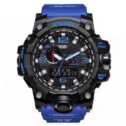 Smael Erkek Kol Saati Mavi Spor Tasarım Su Geçirmez Saat SM1545