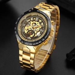 Winner Gold Oval Tasarım Kraliyet Serisi Otomatik Erkek Kol Saati WN011