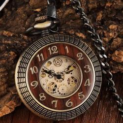 Winner Kurmalı Köstekli Cep Saati Babalar Günü Özel Hediye Saat WK873SDD