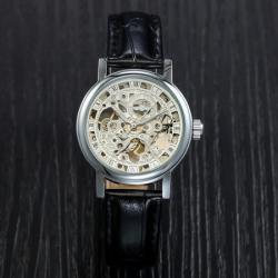 Winner Lüks İskelet Gümüş Tasarım Mekanik Erkek Kol Saati WN1120