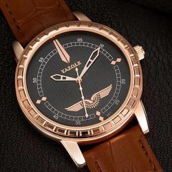 Yazole Erkek Kol Saati Rose Gold Eagle Tasarım Şık Saat YZL9938